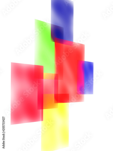Abstract geometric vibrant background. Minimalist backdrop for office presentation. Business cover or banner template. © Elya.Q