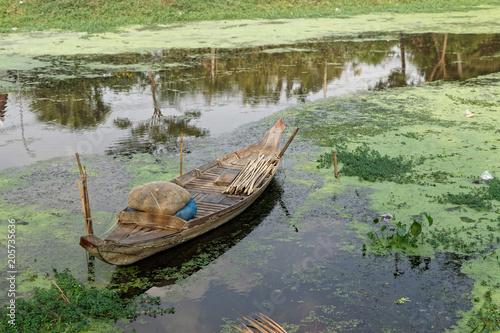 Fotobehang Schip Pirogue, Siem reap - Cambodge