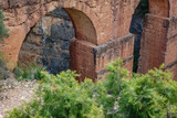 Roman aquaeduct arch detail