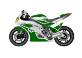 Motorcycle sports on white background.Vector illustration.