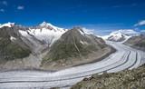 Der große  Aletsch Gletscher in der Schweiz