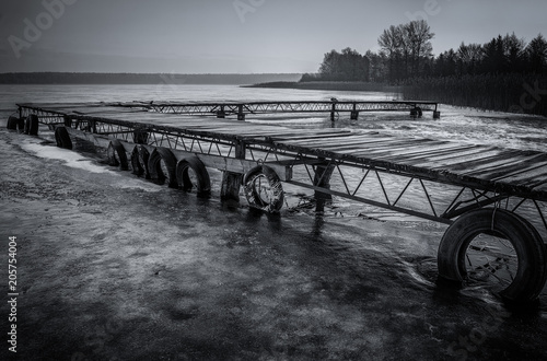 Canvas Pier Sumin lake, lubelskie.