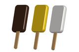 Tres helados de tres sabores. - 205759222