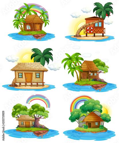 A Set of Hut at Island