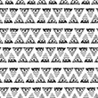hand drawn ethnic ornamet seamless vector pattern
