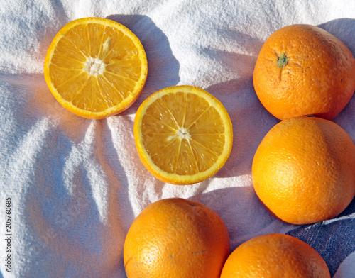 orange on a white napkin