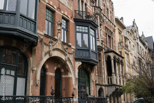 Fotobehang Antwerpen Art nouveau houses in the Zurenborg neighbourhood, Antwerp, Belgium