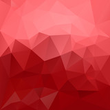 vector abstract irregular polygonal background - triangle low poly pattern - strawberry red and pastel pink color - 205773484