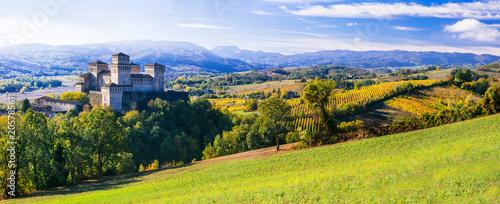 Aluminium Freesurf Medieval castles and wineyards of Italy - Castello di Torrechara (Parma)