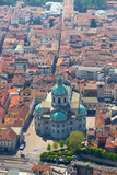 aerial view of the Duomo of Como, Italy - 205787431