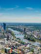 Aerial View of Frankfurt and Main River