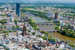 Main River aerial View in Frankfurt, Germany