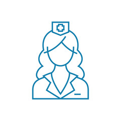 Medical care line icon, vector illustration. Medical care linear concept sign.