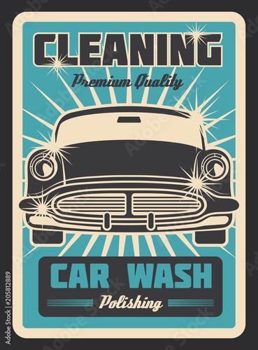 Plexiglas Vintage Poster Cleaning car vintage poster