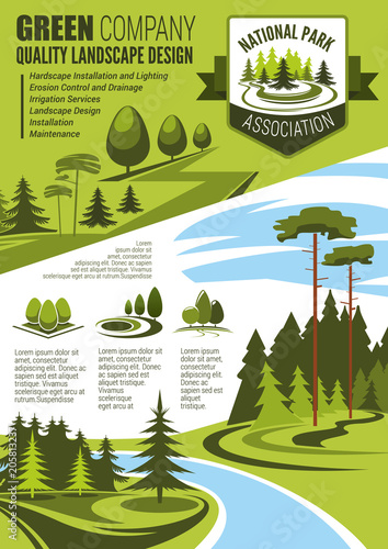Wall mural Landscape maintenance and horticulture poster