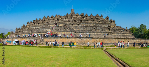 Canvas Boeddha Indonesia, Borobudur