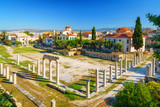 Roman Agora and Byzantine church in Athens, Greece - 205824090