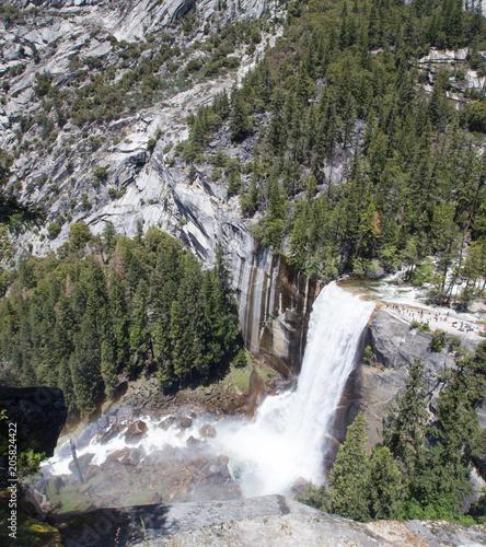 Aluminium Khaki Yosemite Waterfall Spring Scene