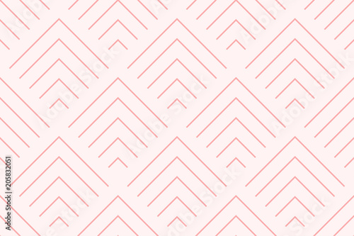 Backgrounds pattern seamless geometric sweet pink chevron abstract and line vector design. Pastel color background. - 205832051
