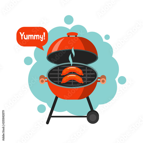 BBQ. Vector illustration. - 205842879