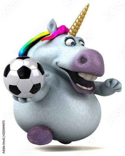 mata magnetyczna Fun unicorn - 3D Illustration