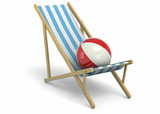Deck Chiar and Ball - 3D - 205845000