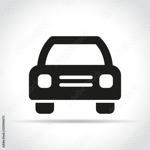 Sticker car icon on white background