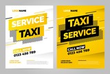 Fototapety Vector layout design template for taxi service. Can be adapt to Brochure, Annual Report, Magazine, Poster.