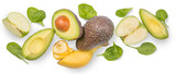 Healthy lifestyle concept - green smoothie ingredients
