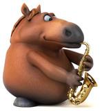 Fun horse - 3D Illustration - 205857047