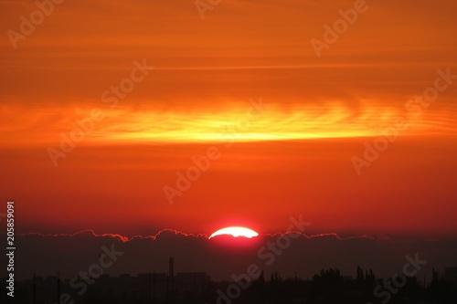 Aluminium Baksteen Beautiful sunset view