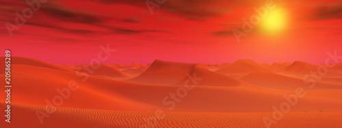Fotobehang Baksteen Sandwüste in einer fernen Welt