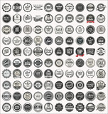 Mega collection of retro vintage badges and labels - 205867037