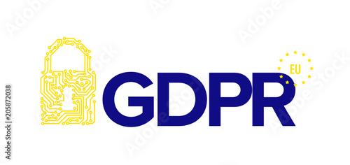 European GDPR concept flyer template illustration