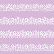 vector seamless pattern with flowers, white and lilac colors - 205876291