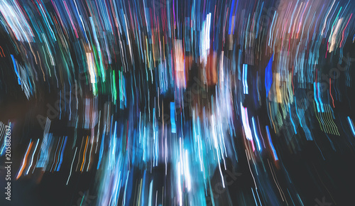 Blurred abstract bokeh background of the city at night - 205882637