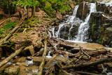 Waterfall Skakalo in the Carpathian mountains