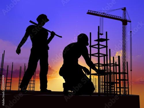 Fridge magnet Human figures builders