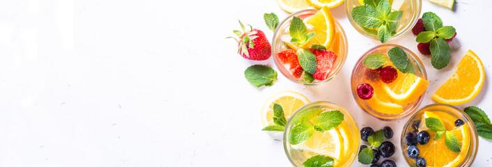 Cold summer drink assortment.  © nadianb