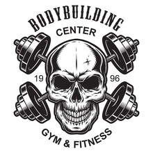 Monochrome Fitness Logo Template Sticker