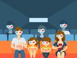 Cinema building interior. - 205894045