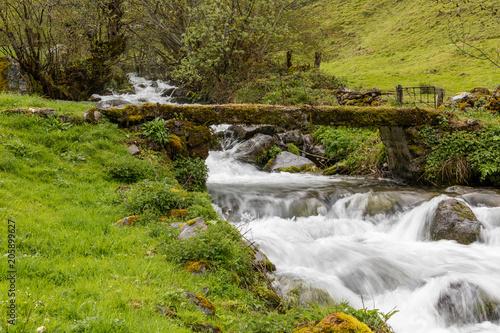 Valley of Leitariegos, in Asturias (Spain), at the beginning of spring