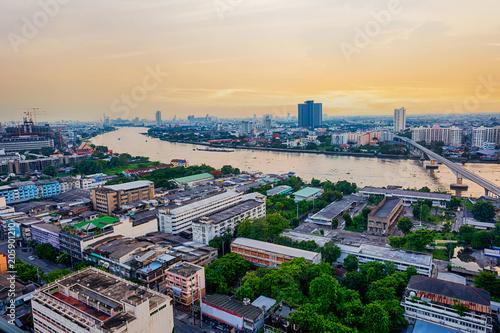 Fotobehang Bangkok Bangkok city on twilight time