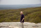 Hiker on Sam's Point overlook, New York