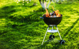 Barbecue Grill with Fire on Nature