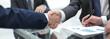 close up.handshake of business partners - 205914027