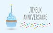 Cupcake joyeux anniversaire-2