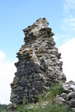 A piece of wall in ruins of Somosko fortress, Slovakia