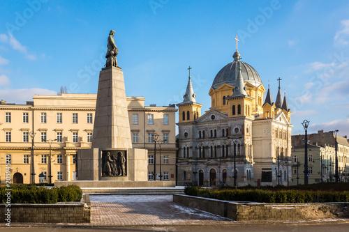Zdjęcia na płótnie, fototapety na wymiar, obrazy na ścianę : Freedom square in Lodz city, Lodzkie, Poland