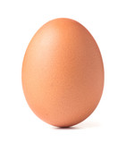 single chicken egg isolated on white background - 205951292